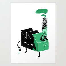 Greenwashing Art Print