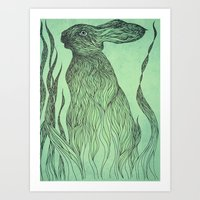 Hiding In The Green Art Print