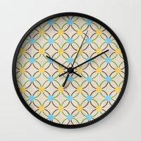 English Country Pattern. Wall Clock