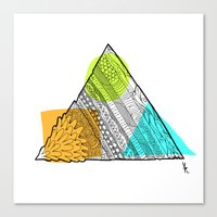 Triangle Doodle Canvas Print