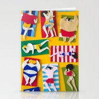 Public Beach Stationery Cards