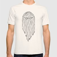 Hair and glasses. Mens Fitted Tee Natural SMALL