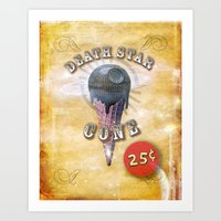 death star cone 25cents Art Print
