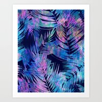 Waikiki Tropic {Blue} Art Print