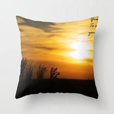 How far you can go Throw Pillow