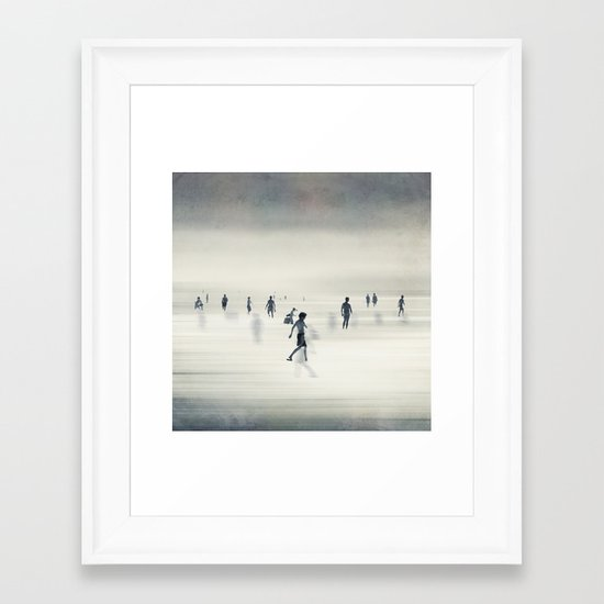 floating on light Framed Art Print