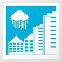 Rainy City Art Print