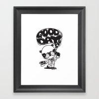 Mr. Euro-Panda Framed Art Print