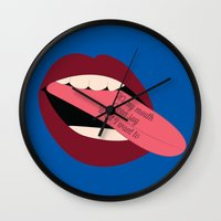 It's My Mouth I Can Say … Wall Clock