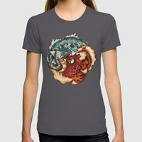 The Tiger and the Dragon Womens Fitted Tee Asphalt SMALL