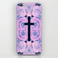 Pastel Rose Cross iPhone & iPod Skin