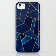 Blue Stone With Gold Lin… iPhone 5c Slim Case