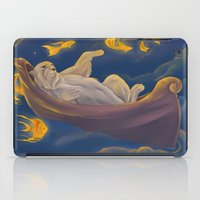 Golden fish and sailing polar bear  iPad Case