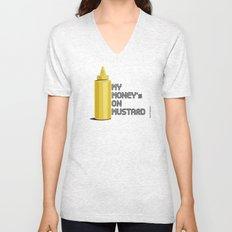 Mustard Pride - Baseball Condiment Race Unisex V-Neck
