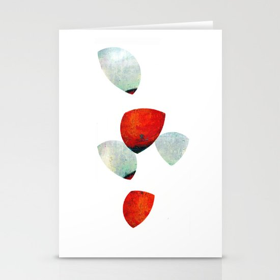 composition in red and grey Stationery Card