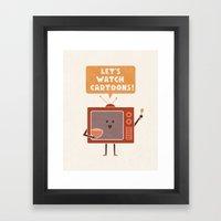 Weekend Mood Framed Art Print
