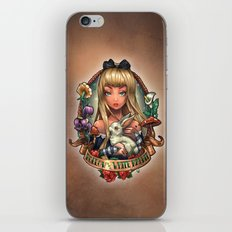 Follow The White Rabbit. iPhone & iPod Skin