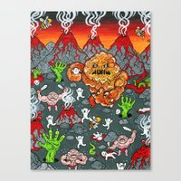 Volcano Lands Canvas Print