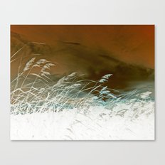 Silver Weeds Canvas Print