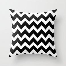 Chevron Black & White Throw Pillow