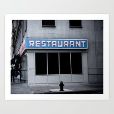 The [Seinfeld] Diner Art Print