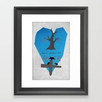 Heart Shaped Box Framed Art Print