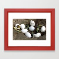 Baby Reptiles Framed Art Print