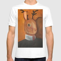 marcus jackalope, esquire Mens Fitted Tee SMALL White