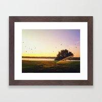 Sunrise Morning Framed Art Print