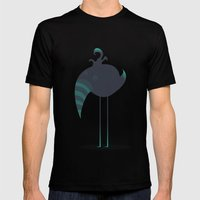 Melancholic Bird Mens Fitted Tee Black SMALL