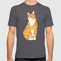 Ginger cat Mens Fitted Tee Asphalt SMALL
