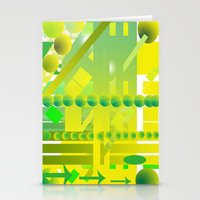 geometric forms Stationery Cards