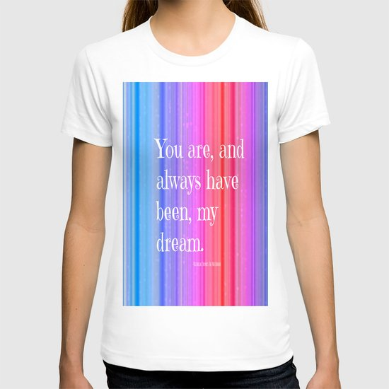 Nicholas Sparks Notebook quote T-shirt