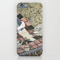 Autumn picnic with my cat iPhone 6 Slim Case