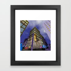 perspective of a city Framed Art Print