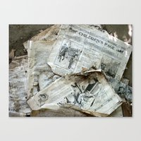 Old Newspaper Left To Th… Canvas Print