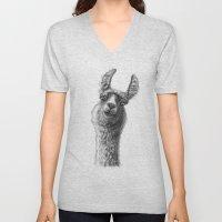 Cute Llama G135 Unisex V-Neck