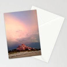 Pink Hotel against Pink Skies Stationery Cards