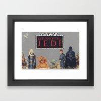 Retro Star Wars Crew! Framed Art Print
