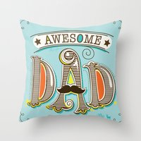 Awesome Dad Throw Pillow