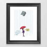 Stupid Rain! Framed Art Print