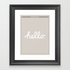 Hello: The Macintosh Office (Beige) Framed Art Print