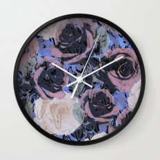 feathered roses  Wall Clock