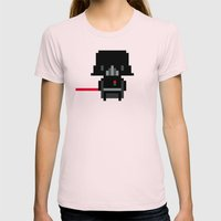 Pixel Darth Vader Womens Fitted Tee Light Pink SMALL