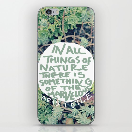 Aristotle: Nature iPhone & iPod Skin