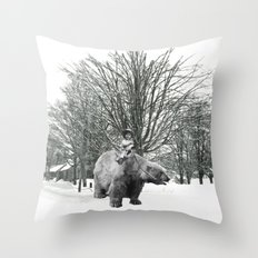 Little Billy's Polar Playtime Throw Pillow