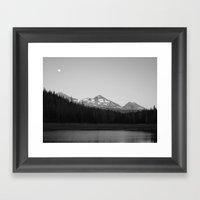 Hand Lake Framed Art Print