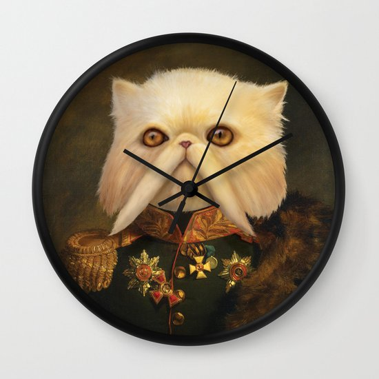 Persian Cat Emperor Wall Clock