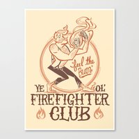 Firefighter Club Canvas Print