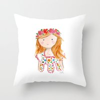 Sister Golden Hair Surprise Throw Pillow